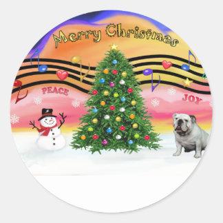 Christmas Music 2 - English Bulldog (9) Stickers