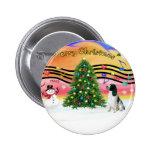 Christmas Music 2 - English Springer (BW) Pin