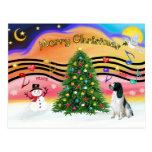 Christmas Music 2 - English Springer (BW) Post Card