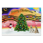 Christmas Music 2 - Fox Terriers (two Wire Haired) Greeting Cards