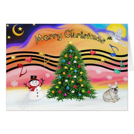 Christmas Music 2 - French Bulldog 1 Card