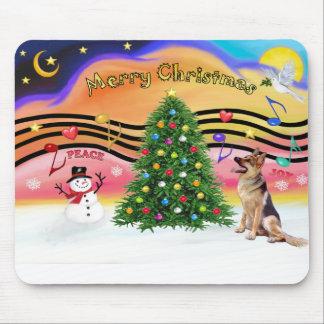 Christmas Music 2 - German Shepherd 1 Mouse Pad