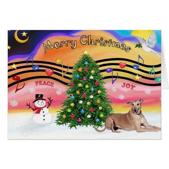 Christmas Music 2 - Geryhound (fawn, ld) Card
