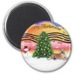 Christmas Music 2 - Geryhound (fawn, ld) Refrigerator Magnet