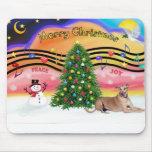 Christmas Music 2 - Geryhound (fawn, ld) Mouse Mats
