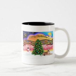 Christmas Music 2 - Geryhound (fawn, ld) Two-Tone Coffee Mug