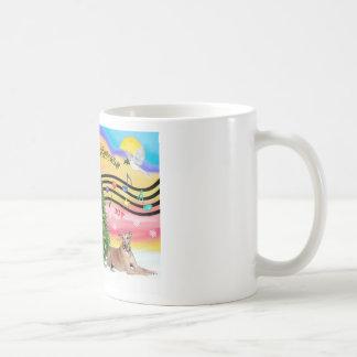 Christmas Music 2 - Geryhound (fawn, ld) Classic White Coffee Mug