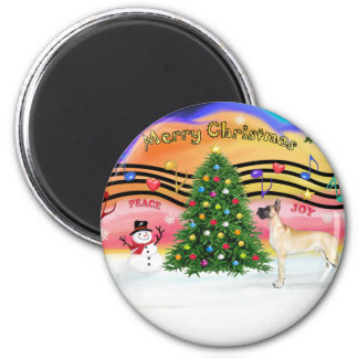 Christmas Music 2 - Great Dane (fawn stand) Magnet