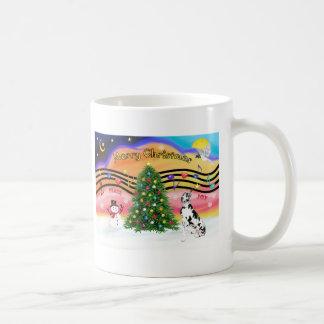 Christmas Music 2 - Great Dane (Harlequin) Coffee Mug