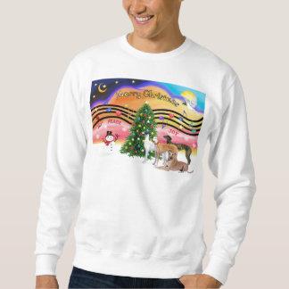 Christmas Music 2 - Greyhounds (four) Sweatshirt