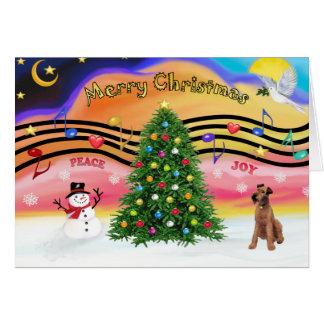 Christmas Music 2 - Irish Fox Terrier Card