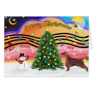Christmas Music 2 - Irish Setter Card