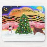 Christmas Music 2 - Irish Setter Mouse Pad