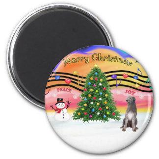 Christmas Music 2 - Irish Wolfhound 1 Magnet