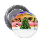Christmas Music 2 - Jack Russell Terrier Button