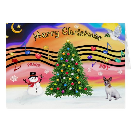 Christmas Music 2 - Jack Russell Terrier Card