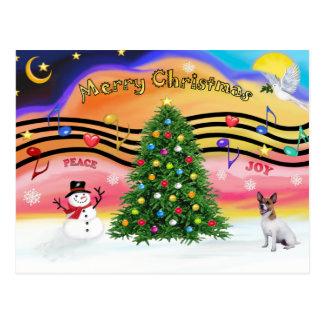 Christmas Music 2 - Jack Russell Terrier Postcard