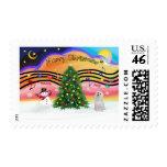 Christmas Music 2 - Maltese 3 Stamp
