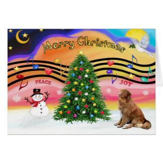 Christmas Music 2 - Nova Scotia Duck Tolling Retri Card
