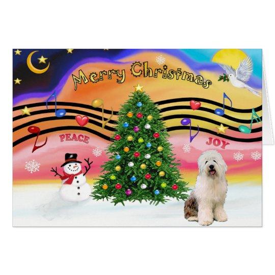Christmas Music 2 - Old English Sheepdog 3 Card