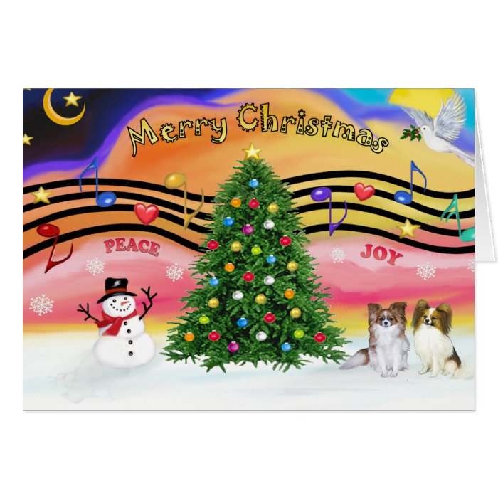 Christmas Music 2 - Papillons (2-Sable-fawn) Card