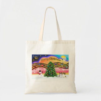 Christmas Music 2 - Papillons (2-Sable-fawn) Tote Bag