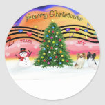 Christmas Music 2 - Papillons (two) Classic Round Sticker