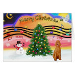 Christmas Music 2 - Poodle (apricot Standard) Card