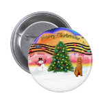 Christmas Music 2 - Poodle (apricot Standard) Pins