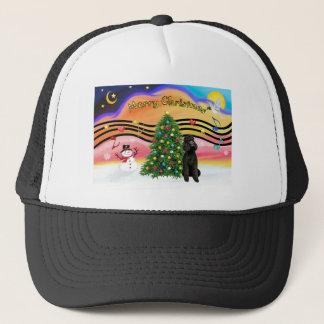 Christmas Music 2-Poodle-Black Standard Trucker Hat