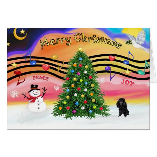 Christmas Music 2 - Poodle (blackToy) Card