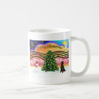 Christmas Music 2 - Poodle (Chocolate Standard) Coffee Mug