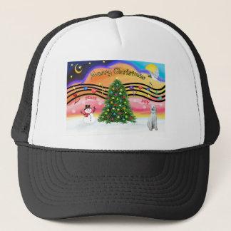 Christmas Music 2 - Poodle (Standard - cream) Trucker Hat