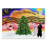 Christmas Music 2 - Poodles (2 Standard) Greeting Card