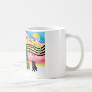 Christmas Music 2 - Pug (black) Coffee Mug