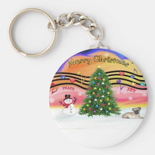 Christmas Music 2 - Pug puppy (ld) Keychain