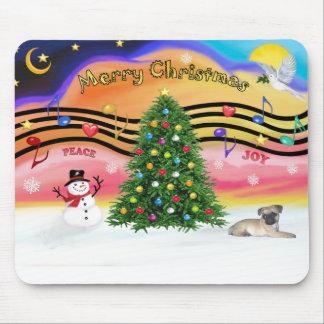 Christmas Music 2 - Pug puppy (ld) Mouse Pad