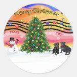Christmas Music 2 - Pugs ( ) Sticker