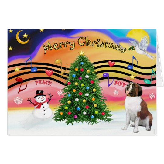 Christmas Music 2 - Saint Bernard 1 Card