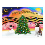 Christmas Music 2 - Saint Bernard 1 Post Cards