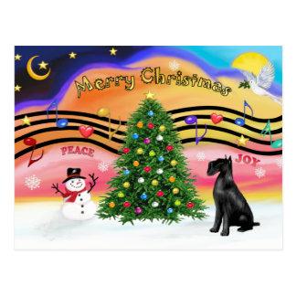 Christmas Music 2 - Schnauzer (Giant black) Postcard