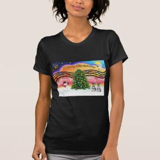 Christmas Music 2 - Schnauzers (two) Tee Shirts