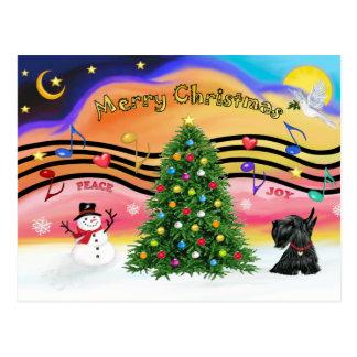 Christmas Music 2 - Scottish Terrier 12 Postcard