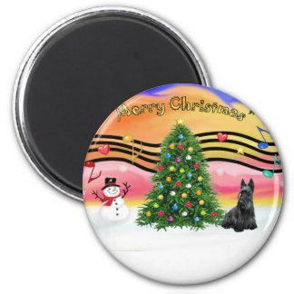 Christmas Music 2 - Scottish Terrier Magnet