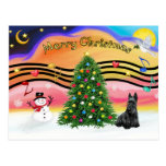 Christmas Music 2 - Scottish Terrier Post Cards