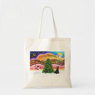 Christmas Music 2 - Scottish Terrier Tote Bag