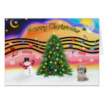 Christmas Music 2 - Shih tzu (P) Greeting Card