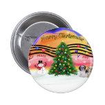 Christmas Music 2 - Shih Tzu (Pair 2) Buttons