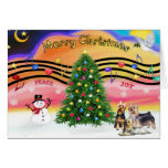Christmas Music 2 - Silky Terriers (three) Card