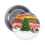 Christmas Music 2 - Silky Terriers (three) Pin